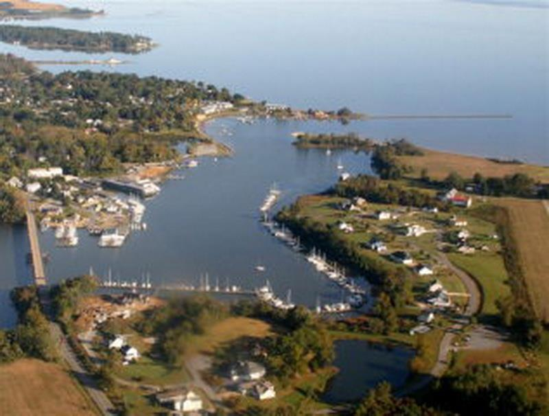 Aerial view of Urbanna Harbour