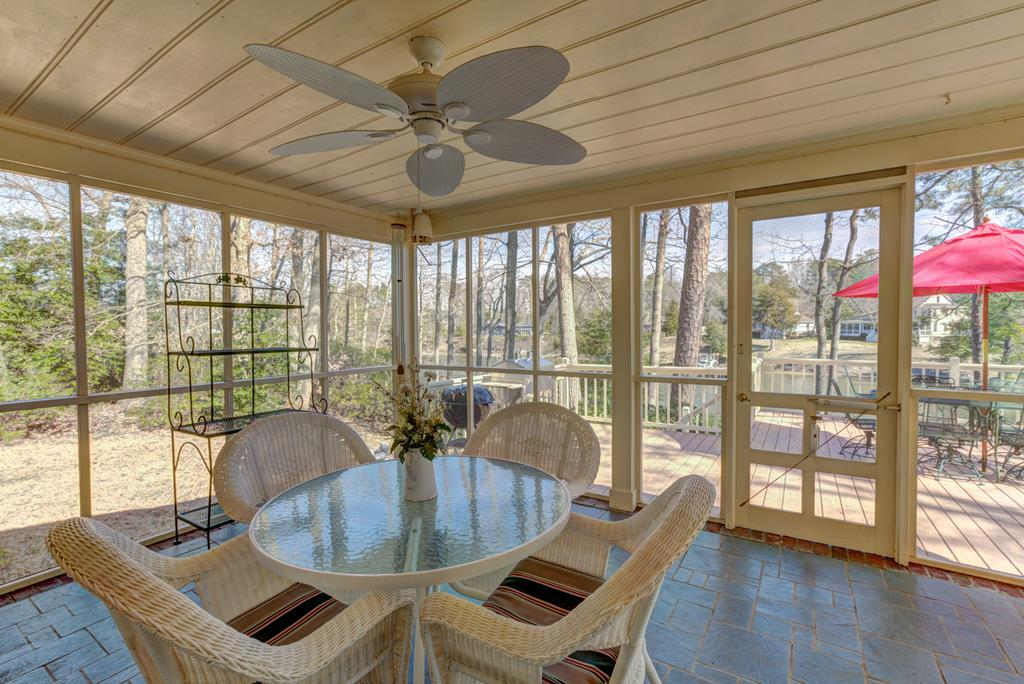 Screened porch to deck.