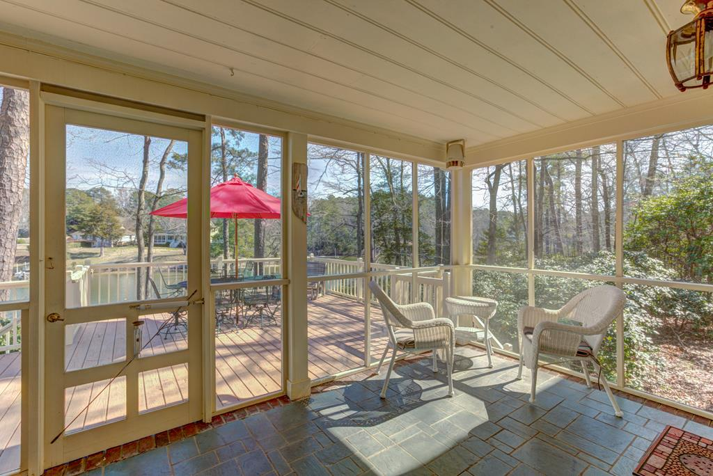Enjoy the summer in protected screened porch